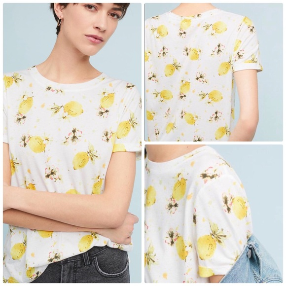 3b5ea27a80e7a0 Anthropologie Tops - 🆕 Meadow Rue Printemps Lemon Printed Tee Large